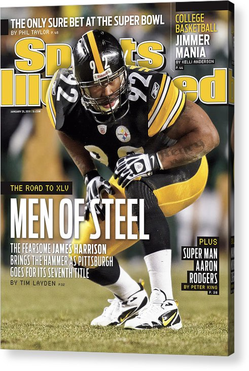 Magazine Cover Acrylic Print featuring the photograph 2011 Afc Championship New York Jets V Pittsburgh Steelers Sports Illustrated Cover by Sports Illustrated