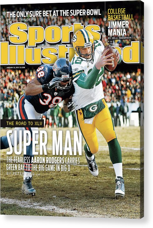 Magazine Cover Acrylic Print featuring the photograph 2011 Nfc Championship Green Bay Packers V Chicago Bears Sports Illustrated Cover by Sports Illustrated