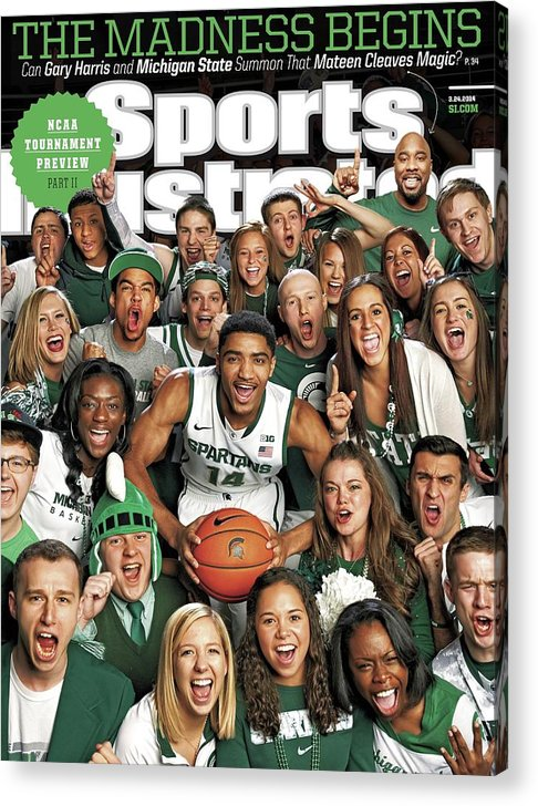 Michigan State University Acrylic Print featuring the photograph 2014 March Madness College Basketball Preview Part II Sports Illustrated Cover by Sports Illustrated