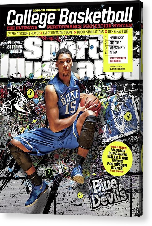 Magazine Cover Acrylic Print featuring the photograph 2014-15 College Basketball Preview Issue Sports Illustrated Cover by Sports Illustrated