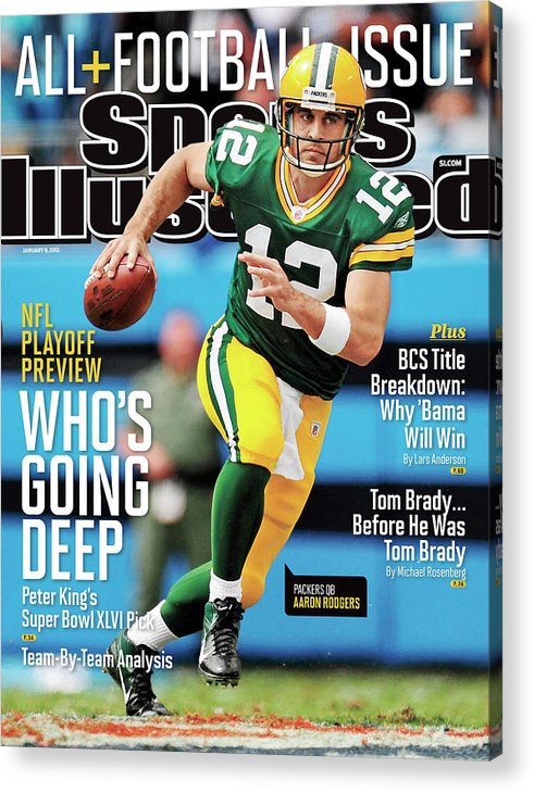Magazine Cover Acrylic Print featuring the photograph Whos Going Deep 2012 Nfl Playoff Preview Issue Sports Illustrated Cover by Sports Illustrated