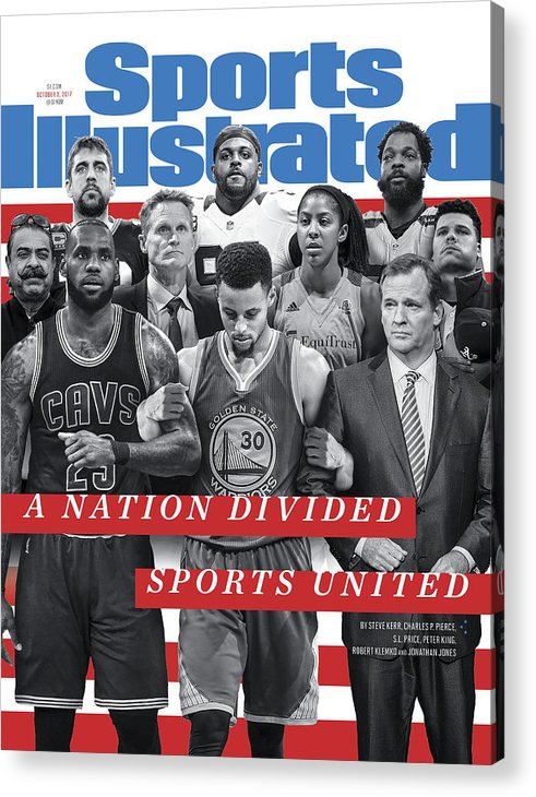 Magazine Cover Acrylic Print featuring the photograph A Nation Divided, Sports United Sports Illustrated Cover by Sports Illustrated