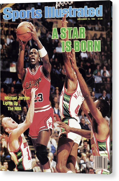 Chicago Bulls Acrylic Print featuring the photograph A Star Is Born Michael Jordan Lights Up The Nba Sports Illustrated Cover by Sports Illustrated