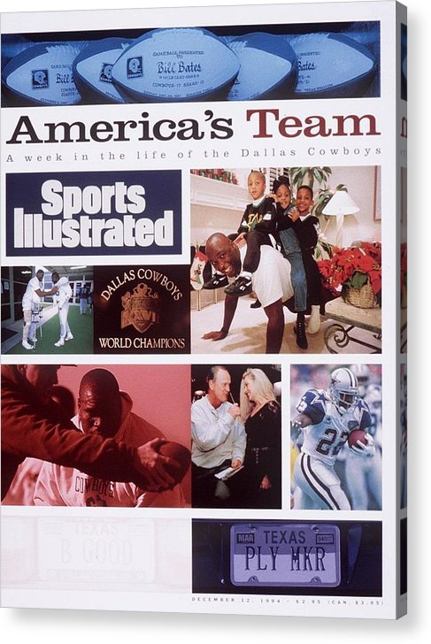 Magazine Cover Acrylic Print featuring the photograph A Week In The Life Of The Dallas Cowboys Sports Illustrated Cover by Sports Illustrated