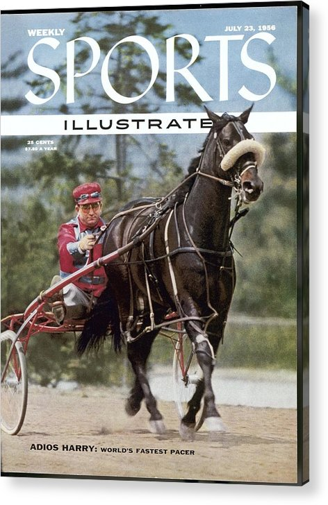 Horse Acrylic Print featuring the photograph Adios Harry, Harness Racing Sports Illustrated Cover by Sports Illustrated