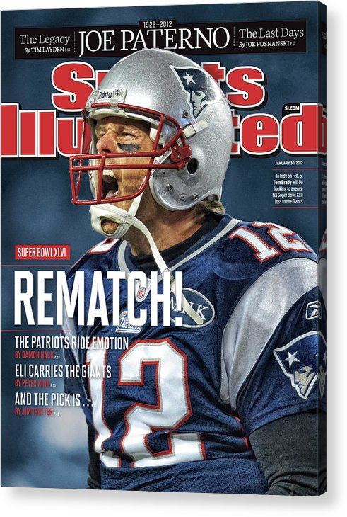Magazine Cover Acrylic Print featuring the photograph Afc Championship - Baltimore Ravens V New England Patriots Sports Illustrated Cover by Sports Illustrated