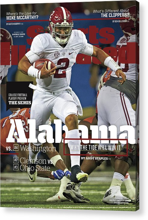 Atlanta Acrylic Print featuring the photograph Alabama Why The Tide Will Win It, 2016 College Football Sports Illustrated Cover by Sports Illustrated