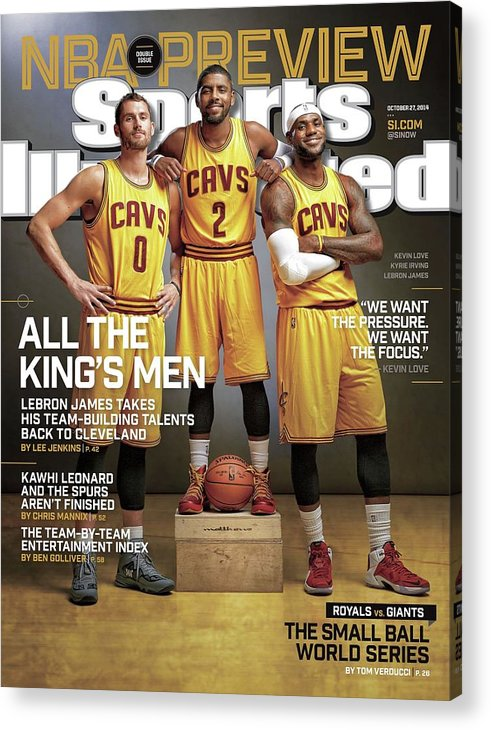 Magazine Cover Acrylic Print featuring the photograph All The Kings Men 2014-15 Nba Basketball Preview Issue Sports Illustrated Cover by Sports Illustrated