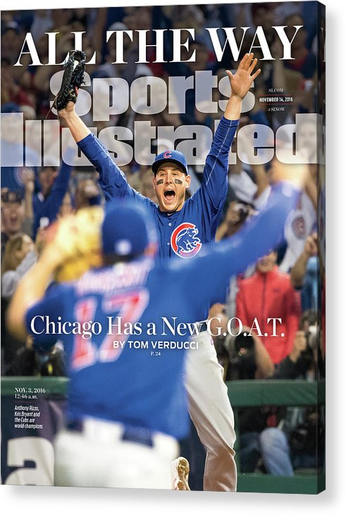 Magazine Cover Acrylic Print featuring the photograph All The Way Chicago Has A New G.o.a.t. Sports Illustrated Cover by Sports Illustrated