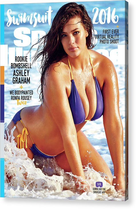 Three Quarter Length Acrylic Print featuring the photograph Ashley Graham Swimsuit 2016 Sports Illustrated Cover by Sports Illustrated