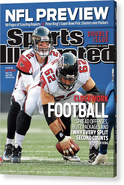 Magazine Cover Acrylic Print featuring the photograph Atlanta Falcons V New York Giants Sports Illustrated Cover by Sports Illustrated