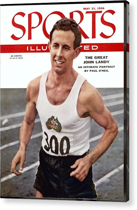Magazine Cover Acrylic Print featuring the photograph Australia John Landy, 1954 British Empire And Commonwealth Sports Illustrated Cover by Sports Illustrated