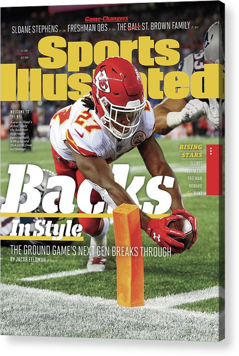 Magazine Cover Acrylic Print featuring the photograph Backs In Style The Ground Games Next Gen Breaks Through Sports Illustrated Cover by Sports Illustrated