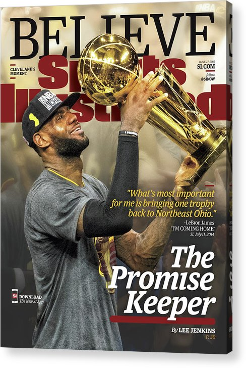 Magazine Cover Acrylic Print featuring the photograph Believe The Promise Keeper Sports Illustrated Cover by Sports Illustrated