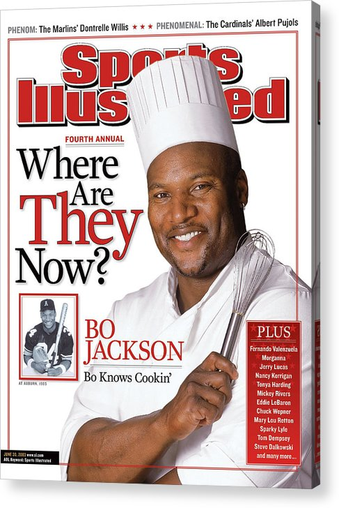 Magazine Cover Acrylic Print featuring the photograph Bo Jackson, Where Are They Now Sports Illustrated Cover by Sports Illustrated