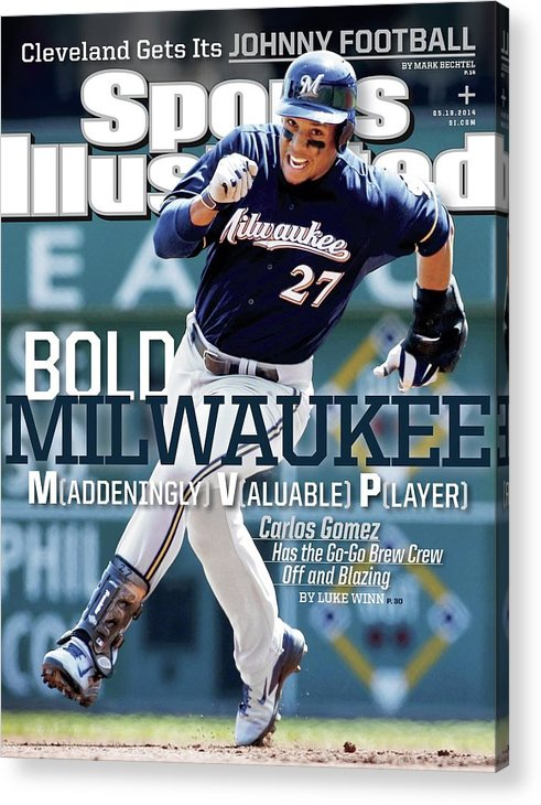 Magazine Cover Acrylic Print featuring the photograph Bold Milwaukee Maddeningly Valuable Player Sports Illustrated Cover by Sports Illustrated