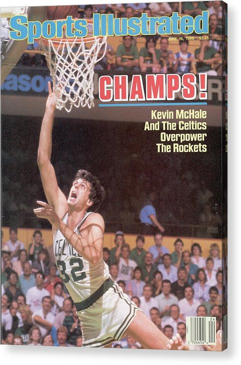 Playoffs Acrylic Print featuring the photograph Boston Celtics Kevin Mchale, 1986 Nba Finals Sports Illustrated Cover by Sports Illustrated