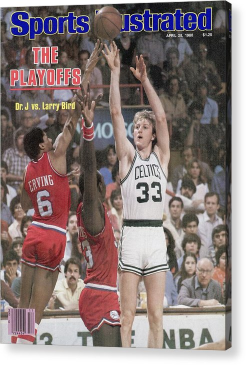 Magazine Cover Acrylic Print featuring the photograph Boston Celtics Larry Bird, 1980 Nba Eastern Conference Sports Illustrated Cover by Sports Illustrated