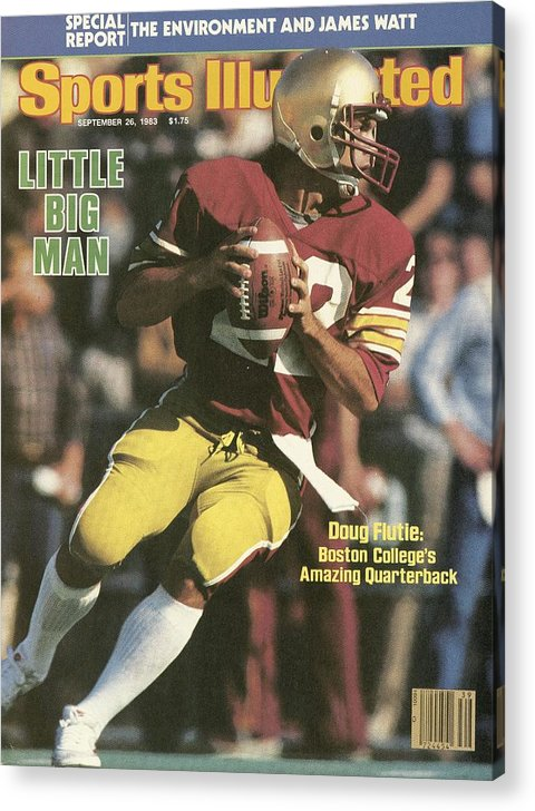 1980-1989 Acrylic Print featuring the photograph Boston College Qb Doug Flutie... Sports Illustrated Cover by Sports Illustrated
