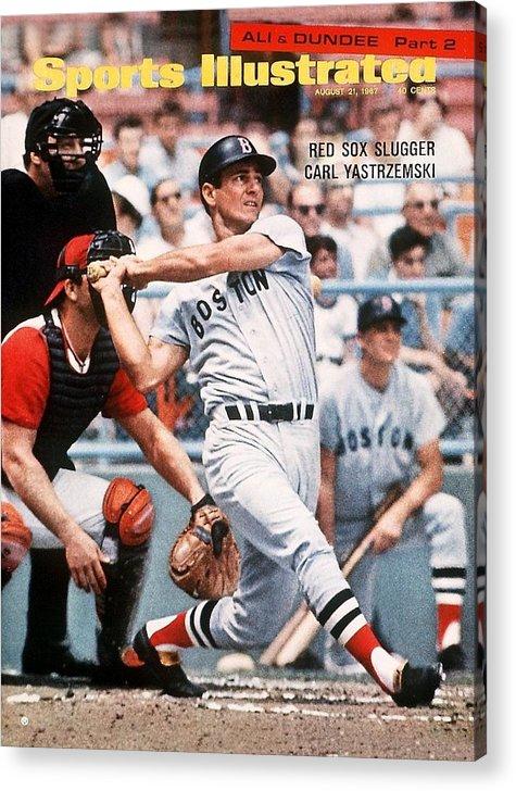 Magazine Cover Acrylic Print featuring the photograph Boston Red Sox Carl Yastrzemski... Sports Illustrated Cover by Sports Illustrated