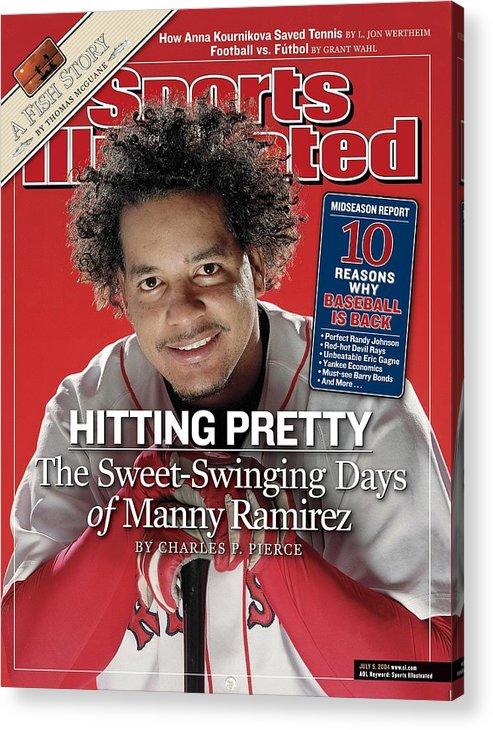 Magazine Cover Acrylic Print featuring the photograph Boston Red Sox Manny Ramirez Sports Illustrated Cover by Sports Illustrated
