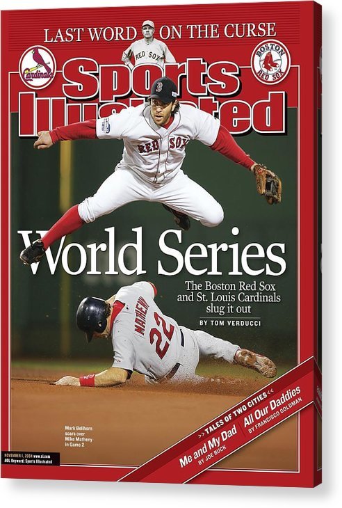 St. Louis Cardinals Acrylic Print featuring the photograph Boston Red Sox Mark Bellhorn, 2004 World Series Sports Illustrated Cover by Sports Illustrated