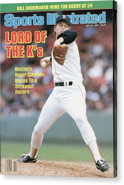 1980-1989 Acrylic Print featuring the photograph Boston Red Sox Roger Clemens... Sports Illustrated Cover by Sports Illustrated