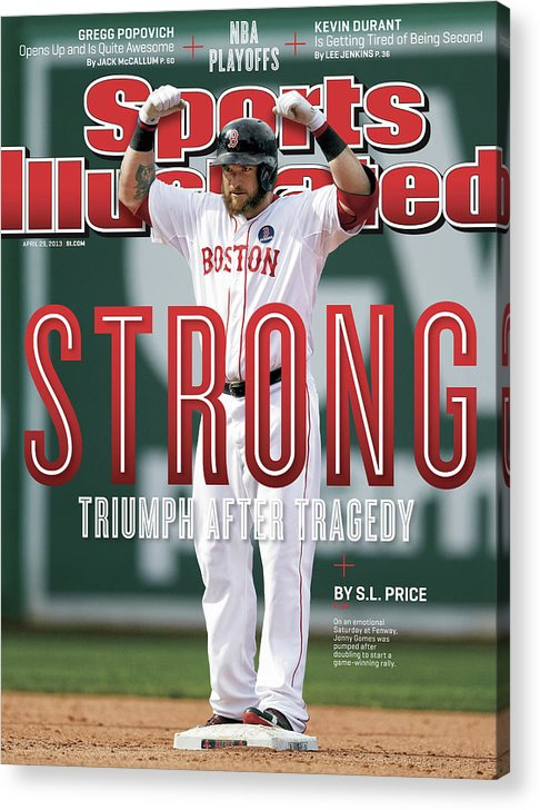 Magazine Cover Acrylic Print featuring the photograph Boston Strong Triumph After Tragedy Sports Illustrated Cover by Sports Illustrated