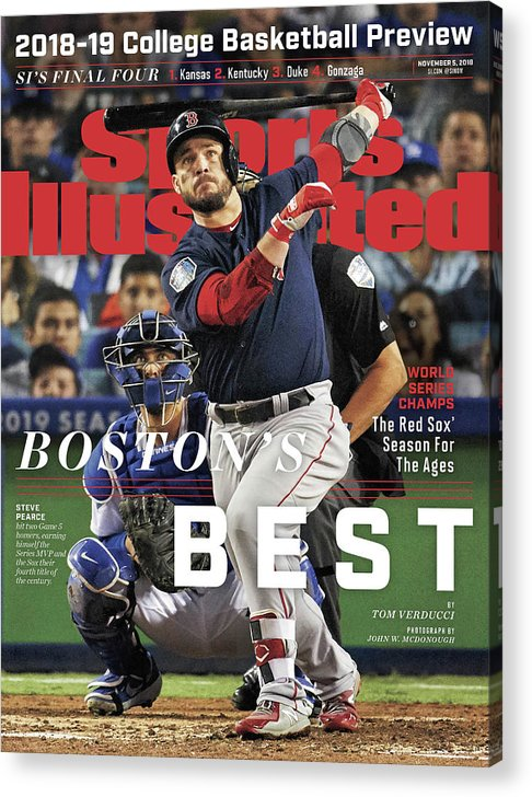 Magazine Cover Acrylic Print featuring the photograph Bostons Best Boston Red Sox, 2018 World Series Champions Sports Illustrated Cover by Sports Illustrated