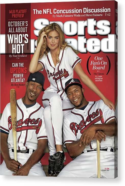 Magazine Cover Acrylic Print featuring the photograph Can The Uptons Power Atlanta One Fans On Board 2013 Mlb Sports Illustrated Cover by Sports Illustrated