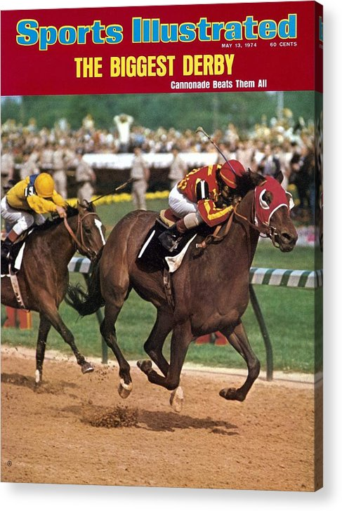 Horse Acrylic Print featuring the photograph Cannonade, 1974 Kentucky Derby Sports Illustrated Cover by Sports Illustrated