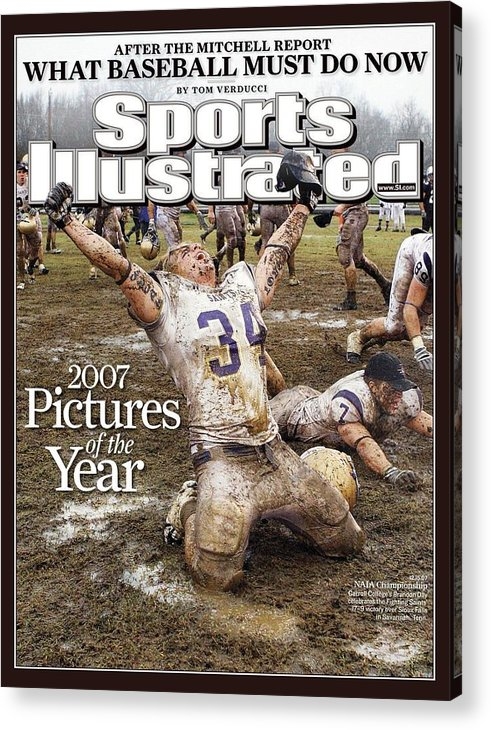 Magazine Cover Acrylic Print featuring the photograph Carroll College Brandon Day, 2007 Naia National Football Sports Illustrated Cover by Sports Illustrated