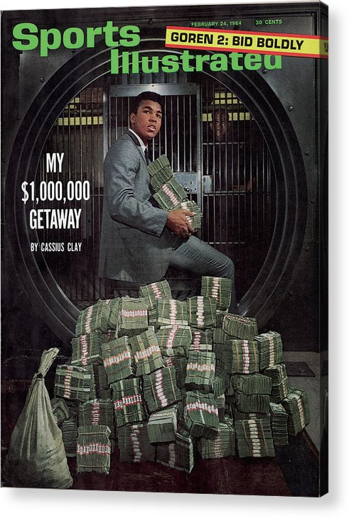 Magazine Cover Acrylic Print featuring the photograph Cassius Clay, Heavyweight Boxing Sports Illustrated Cover by Sports Illustrated