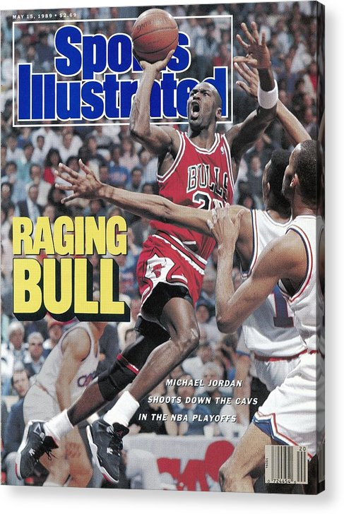 Playoffs Acrylic Print featuring the photograph Chicago Bulls Michael Jordan, 1989 Nba Eastern Conference Sports Illustrated Cover by Sports Illustrated