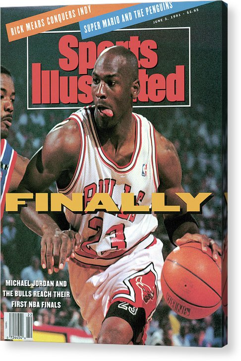 Playoffs Acrylic Print featuring the photograph Chicago Bulls Michael Jordan, 1991 Nba Eastern Conference Sports Illustrated Cover by Sports Illustrated