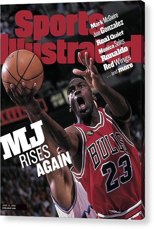 Playoffs Acrylic Print featuring the photograph Chicago Bulls Michael Jordan, 1998 Nba Finals Sports Illustrated Cover by Sports Illustrated