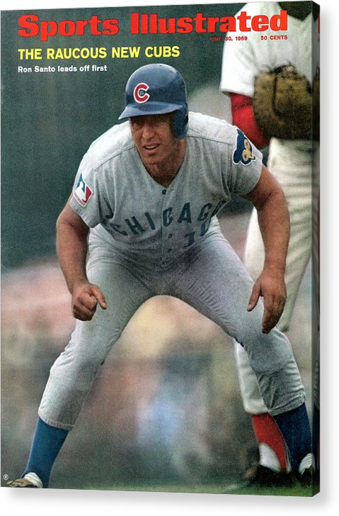 National League Baseball Acrylic Print featuring the photograph Chicago Cubs Ron Santo... Sports Illustrated Cover by Sports Illustrated