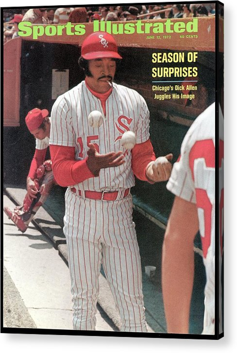 Magazine Cover Acrylic Print featuring the photograph Chicago White Sox Dick Allen... Sports Illustrated Cover by Sports Illustrated