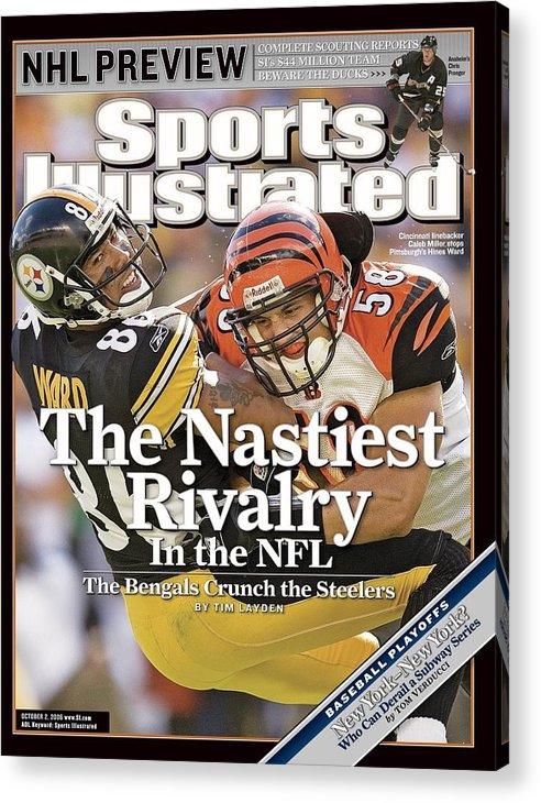 Magazine Cover Acrylic Print featuring the photograph Cincinnati Bengals Caleb Miller... Sports Illustrated Cover by Sports Illustrated