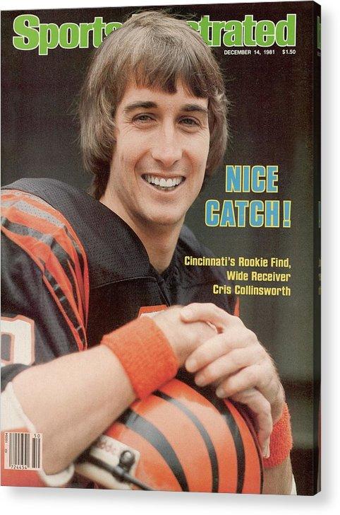 Magazine Cover Acrylic Print featuring the photograph Cincinnati Bengals Chris Collinsworth Sports Illustrated Cover by Sports Illustrated