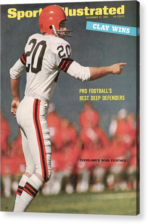 Atlanta Acrylic Print featuring the photograph Cleveland Browns Ross Fichtner... Sports Illustrated Cover by Sports Illustrated