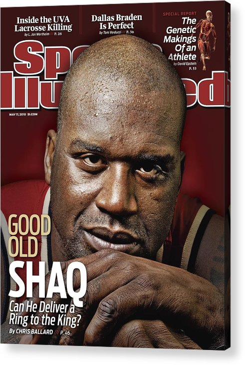 Magazine Cover Acrylic Print featuring the photograph Cleveland Cavaliers Shaquille Oneal Sports Illustrated Cover by Sports Illustrated