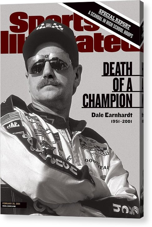 Atlanta Acrylic Print featuring the photograph Dale Earnhardt, 1993 Hooters 500 Sports Illustrated Cover by Sports Illustrated