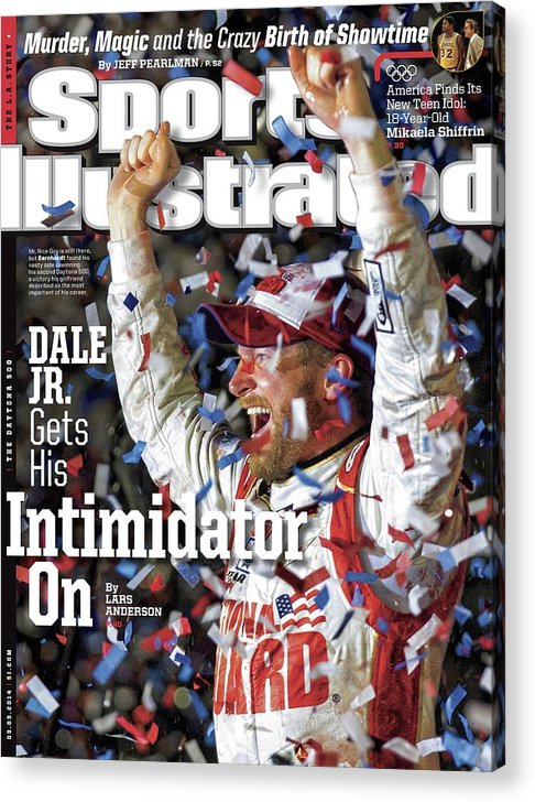 Magazine Cover Acrylic Print featuring the photograph Dale Jr. Gets His Intimidator On Sports Illustrated Cover by Sports Illustrated