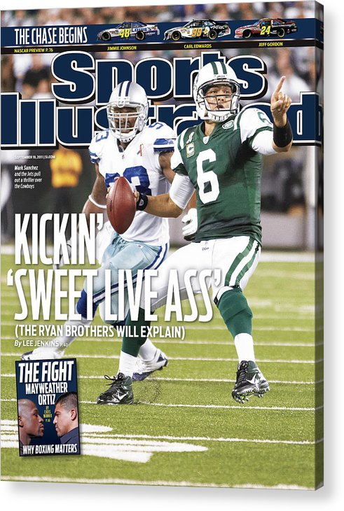 Magazine Cover Acrylic Print featuring the photograph Dallas Cowboys V New York Jets Sports Illustrated Cover by Sports Illustrated