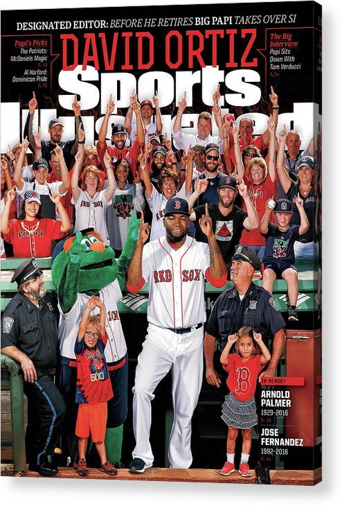 Magazine Cover Acrylic Print featuring the photograph David Ortiz, Designated Editor Before He Retires Big Papi Sports Illustrated Cover by Sports Illustrated