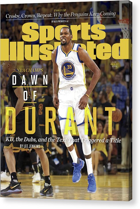 Playoffs Acrylic Print featuring the photograph Dawn Of Durant Kd, The Dubs, And The Text That Triggered A Sports Illustrated Cover by Sports Illustrated