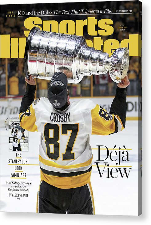 Magazine Cover Acrylic Print featuring the photograph Deja View. The Stanley Cup Look Familiar Sports Illustrated Cover by Sports Illustrated