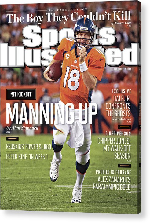 Magazine Cover Acrylic Print featuring the photograph Denver Broncos Vs Pittsburgh Steelers Sports Illustrated Cover by Sports Illustrated