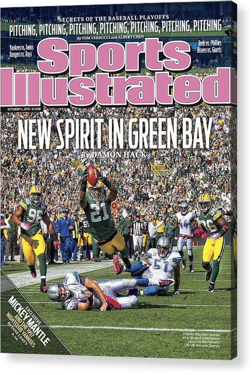 Green Bay Acrylic Print featuring the photograph Detroit Lions V Green Bay Packers Sports Illustrated Cover by Sports Illustrated